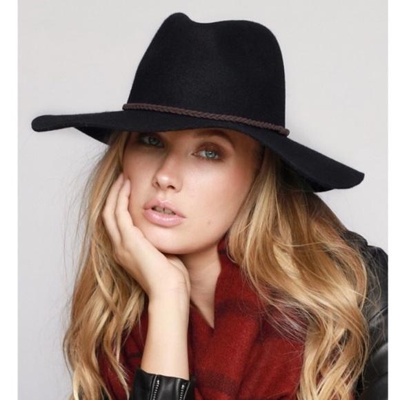 72ee3ed970d Wide Brim Wool Felt Panama Hat - Black